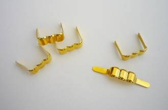 19mm Crimp Bag fitting, Gold