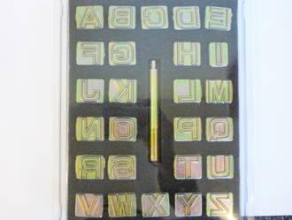 "20mm (3/4"")  Block Style, Alphabet set"