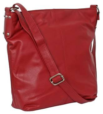 AHB95 - ROSIE LEATHER HANDBAG - RED