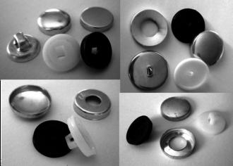 UN300  Button Moulds & UN388 Sew Thru Sets  (packet of 100pcs.)
