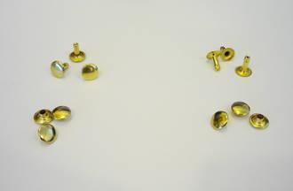9mm  Gold  Rivet Set ; Single and Double Cap  (100pcs./pack)