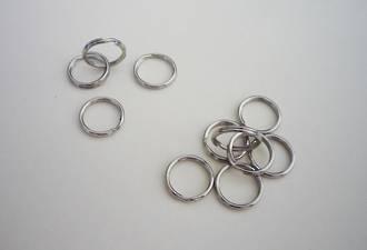 H818 Key Ring Nickel,  15mm
