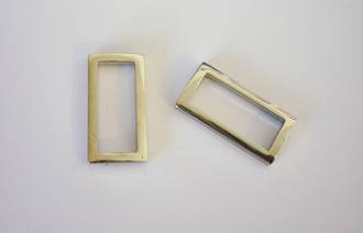 OE4615  Cast Metal Rectangle  (32mm)