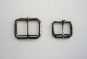 B42  Half Roller Buckle,  Black Nickel finish