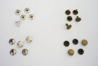 12 x 8mm D/C Rivet Set Solid Brass - 100pcs. /pack