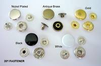 201 Snap Fastener Set  (100sets /pk)