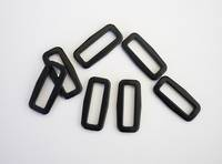 #2807  Black Plastic Rectangle 25mm