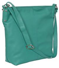 AHB95 - ROSIE LEATHER HANDBAG - AQUA