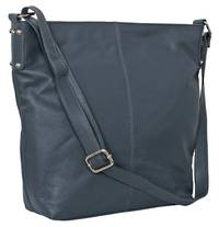 AHB95 - ROSIE LEATHER HANDBAG - NAVY