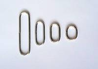 H150  Oval Loops  Nickel