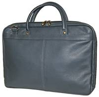 MB255 - LEATHER LAPTOP CASE - NAVY