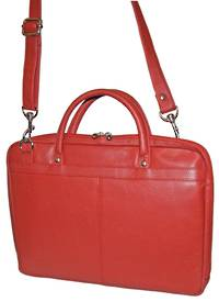 MB255 - LEATHER LAPTOP CASE - RED