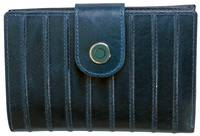 WL540 LADIES RIDGED WALLET - BLUE