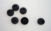 KL881 Luggage feet, black plastic