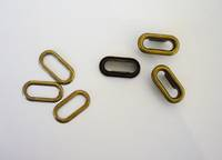 E-38A  Oval  19mm Eyelet and Washer Set, Antique Brass