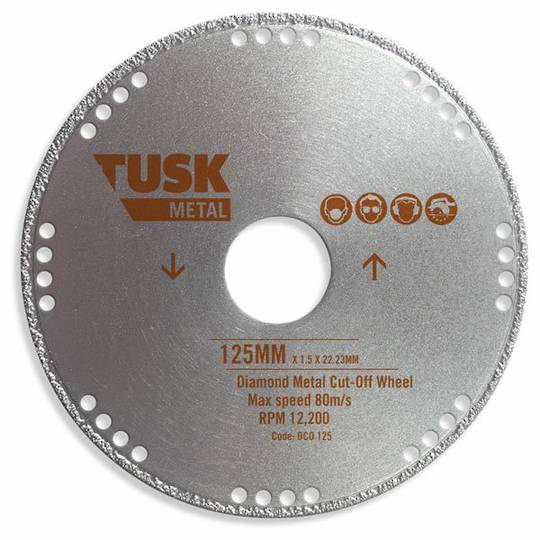 TUSK Diamond Metal Cut-off Disc 125 x 1 x 22.2mm