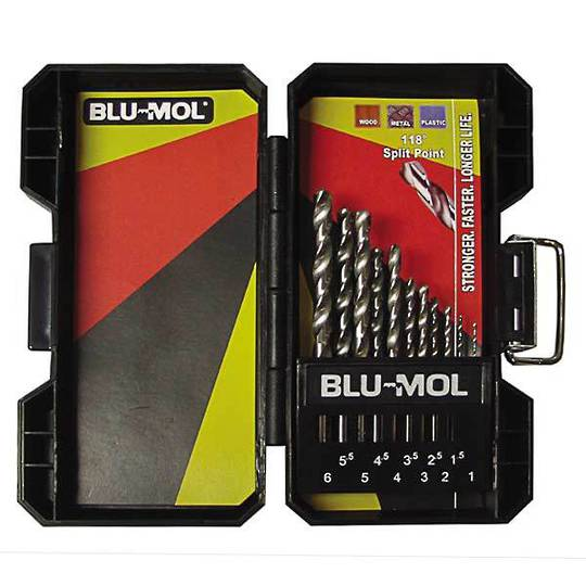 Blumol 11pc Drill Set 1 - 6mm