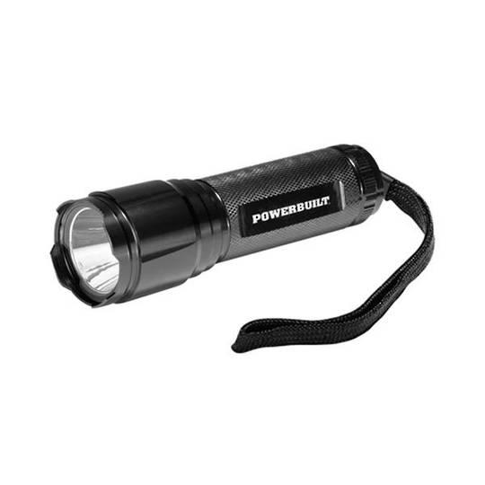 Powerbuilt 250 Lumen Tactical Flashlight CREE XPG