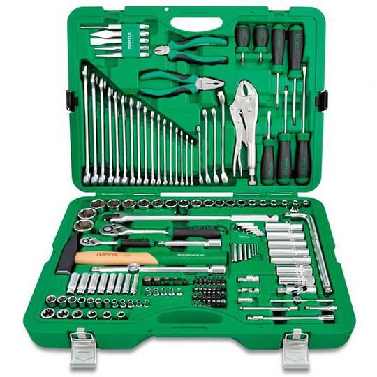 "TopTul Tool Kit 150pc 1/4"" & 1/2"""