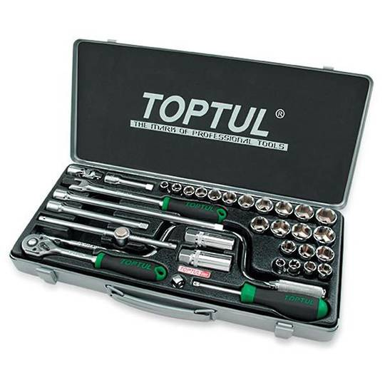 "TopTul Socket Set 3/8""Dr 34pc Metric / Imperial"