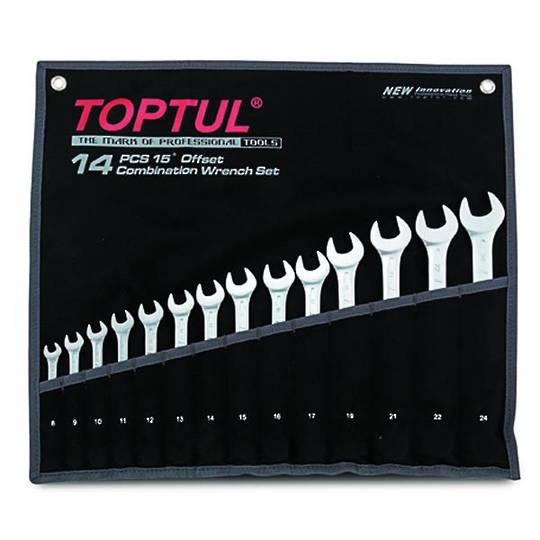 TopTul R&OE Wrench Set 14pc Metric