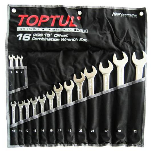 TopTul R&OE Wrench set 16pc Metric