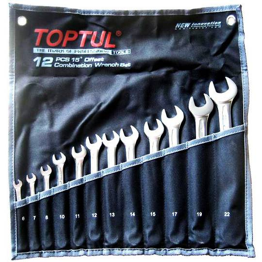 TopTul 12pc R&OE Wrench Set 6mm-22mm