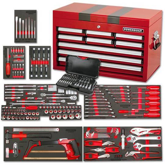 Powerbuilt 254pc 9 Drawer Tool Chest Kit