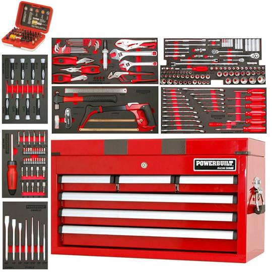 Powerbuilt 255pc 6 Drawer Tool Chest Kit