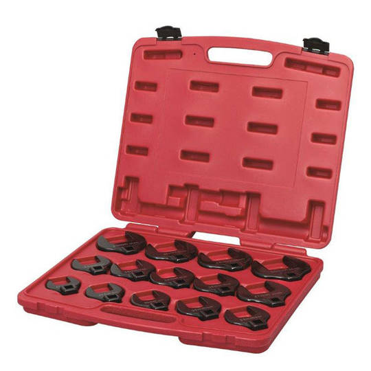 Toledo Crowsfoot Wrench Set 1/2dr 14pc