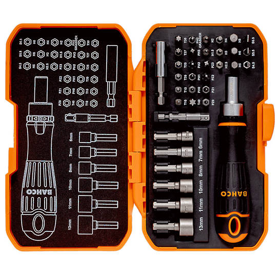 Bahco 36pc Ratcheting Screwdriver Bit Set