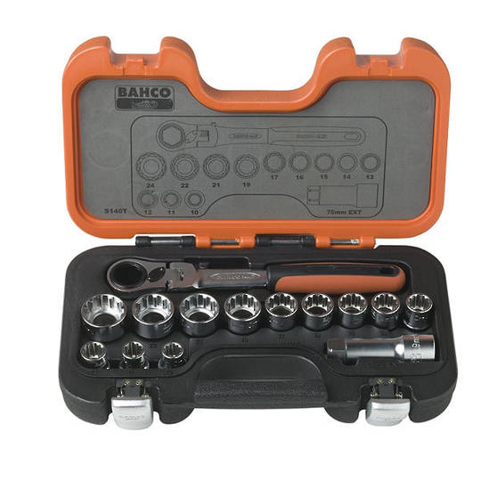 Bahco 14pc Socket Set Go-Thru