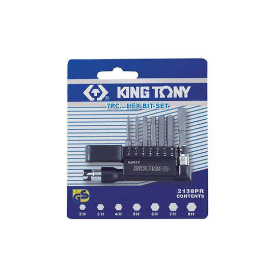 King Tony 7pc Hex Bit Set L-Holder