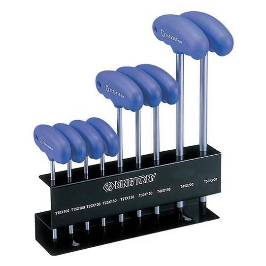 King Tony 9pc Torx Head Wrench Stand Set