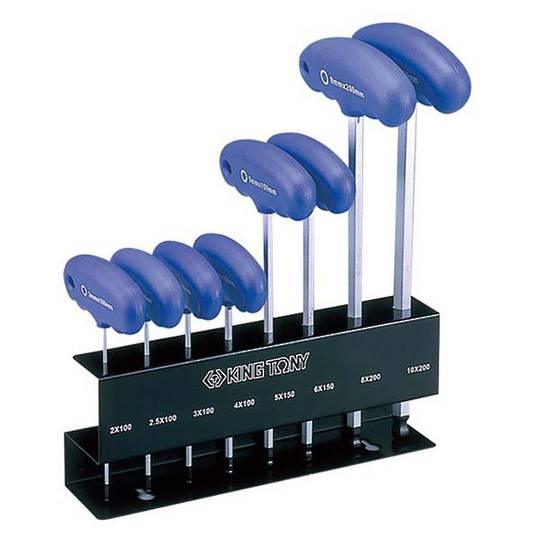 King Tony 8pc Hex Wrench Stand Set