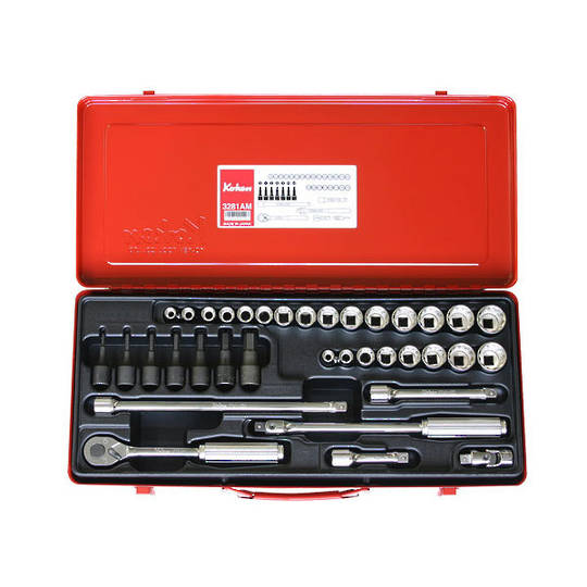 "Koken 3/8"" Dr Socket Set - 36pc"