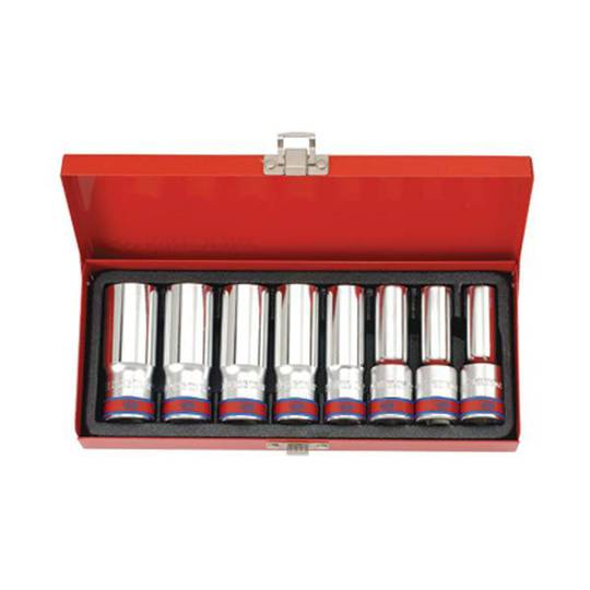 "King Tony 8pc 1/2""Dr Deep Imperial Socket Set"