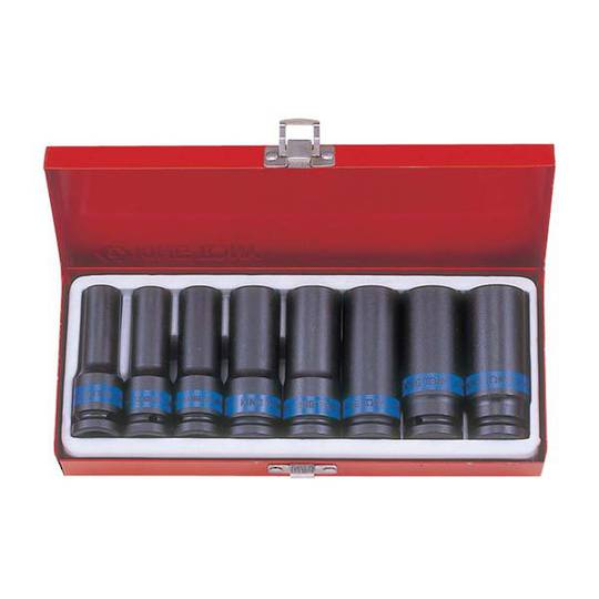 "King Tony 1/2""Dr 8pc Deep Metric Impact Socket Set"