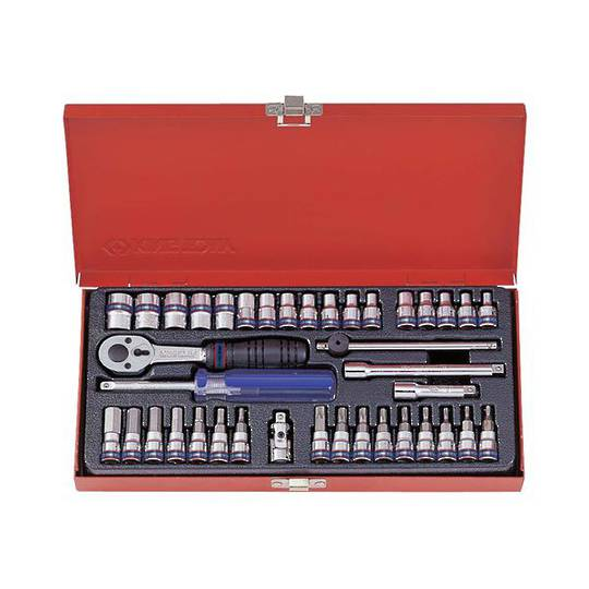 "King Tony 39pc 1/4""Dr Metric Socket Set"