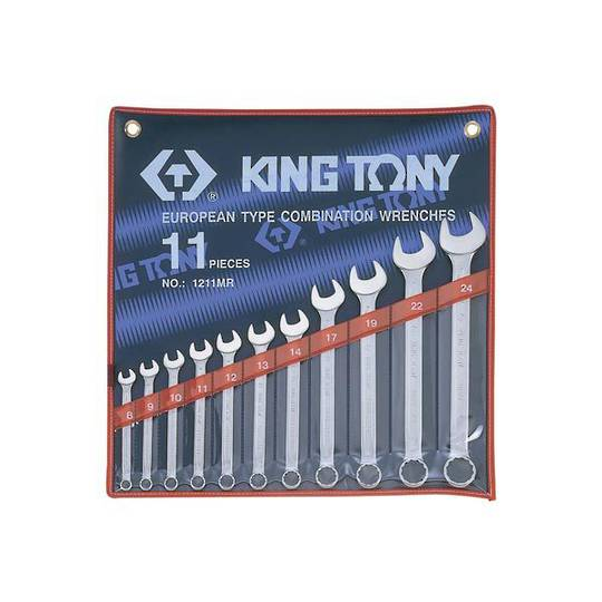 King Tony 11pc R&OE Wrench Set 8-24mm