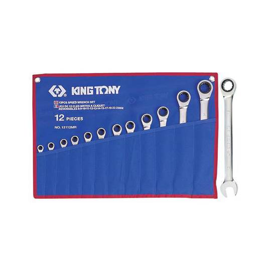 King Tony 12pc Ratchet Wrench Set 8-24mm