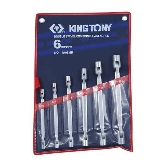 King Tony 6pc Swivel End Socket Wrench Set