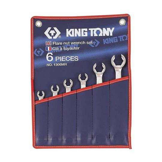 King Tony 6pt Flare Nut Wrench Set 8-22mm