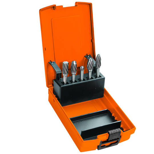 "SP Tools 5pc Burr Set for Aluminum 1/4"" shk"