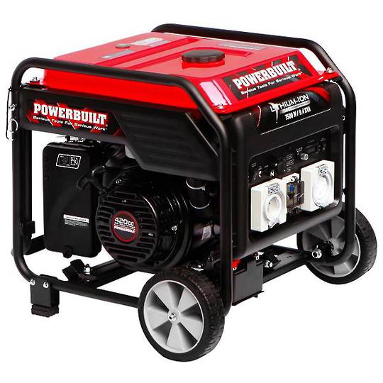 Powerbuilt 7500W / 9.4kVA Inverter Generator