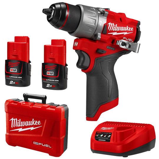 Milwaukee M12FPD-202C FUEL Hammer Drill Kit