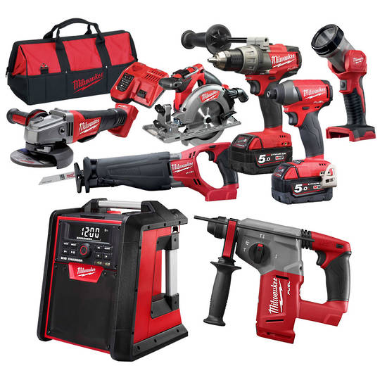 Milwaukee M18FPP8A2-502B 8pc FUEL Power Pack