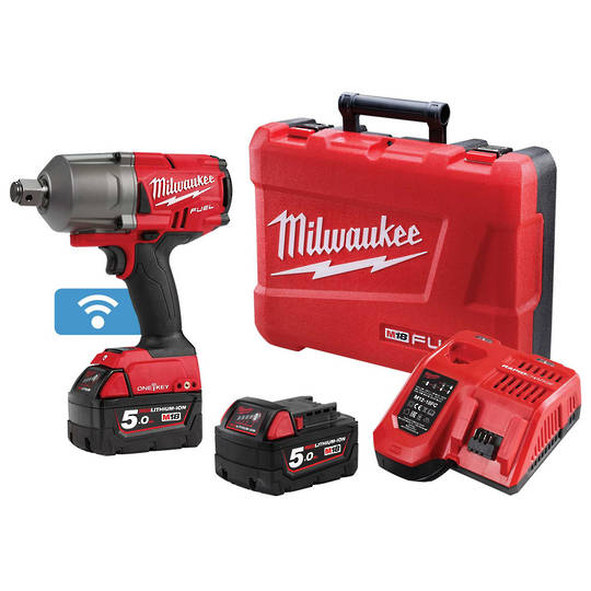 "Milwaukee M18ONEFHIWF34-502C 3/4"" High Torque Wrench Kit"