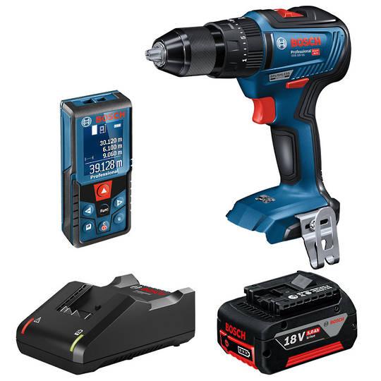 BOSCH 2Pc Measuring + 18V Hammer Drill  Limited Release Kit