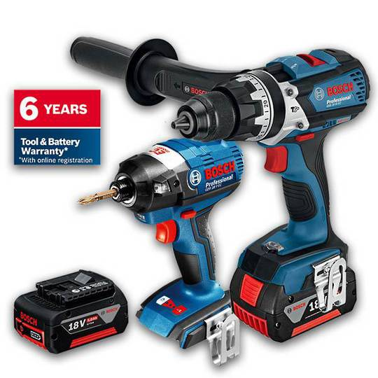 Bosch 18V 5.0Ah 2pc Brushless Kit